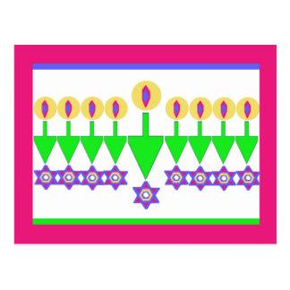 Carte de Noël à l'envers de Hanoukka