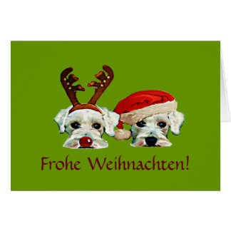 Carte de Noël allemande