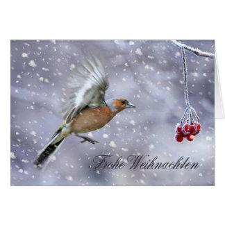 Carte de Noël allemande avec l'hiver Scener de