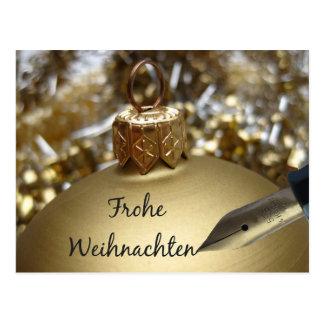 Carte de Noël allemande de Frohe Weihnachten