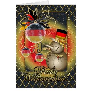 Carte de Noël allemande - Frohe Weihnachten