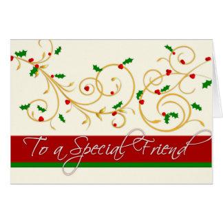 Carte de Noël - ami spécial