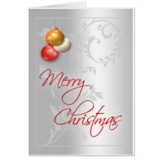 Carte de Noël argentée