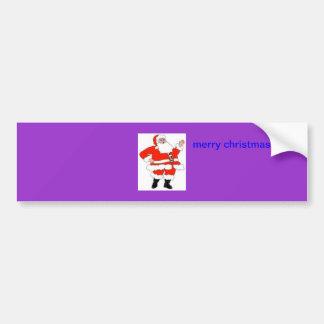 carte de Noël Autocollant Pour Voiture