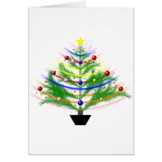 Carte de Noël avec l'arbre