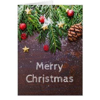 Carte de Noël avec le blanc à l'intérieur