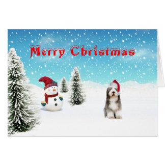 Carte de Noël barbue de colley