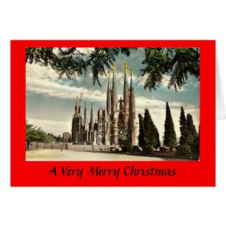 Carte de Noël - Barcelone, Sagrada Familia