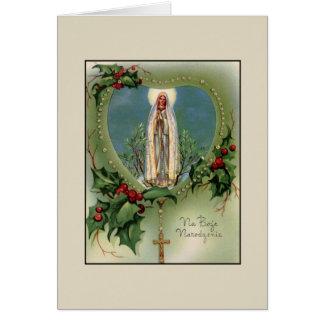 Carte de Noël bénie par polonais de mère de cru