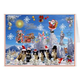 Carte de Noël Border collie