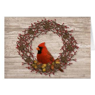 Carte de Noël cardinale