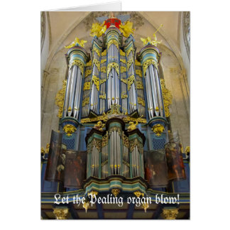 Carte de Noël carillonnante d'organe - Breda