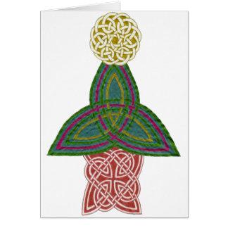 Carte de Noël celtique