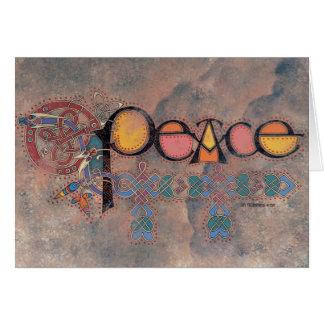 Carte de Noël celtique de paix