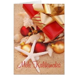 "Carte de Noël chaude de temps de ""Mele Kalikimaka"""