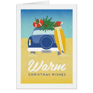 Carte de Noël chaude d'été de poster vintage