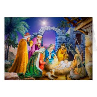 Carte de Noël chrétienne