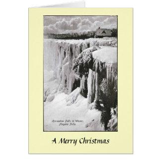 Carte de Noël - chutes du Niagara, New York