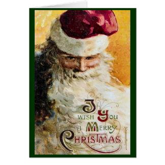 Carte de Noël classique démodée de Père Noël