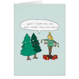 Carte de Noël comique drôle humaine de l'arbre de