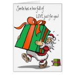 Carte de Noël complètement de l'amour