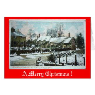 Carte de Noël - cottage d'Anne Hathaway