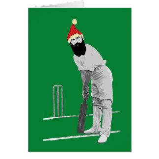 Carte de Noël Cricketing