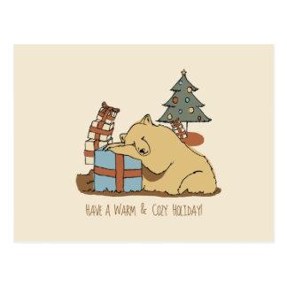 Carte de Noël d ours de sommeil Carte Postale