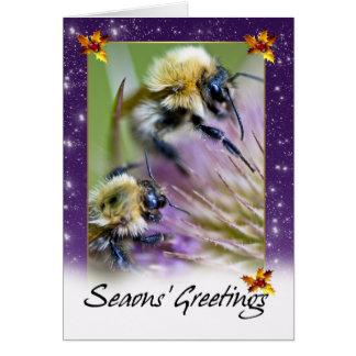Carte de Noël d'abeille - abeilles de miel sur Flo