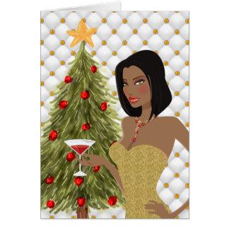 Carte de Noël d'Afro-américain