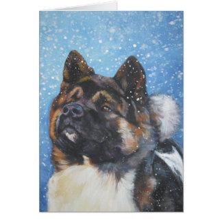 carte de Noël d'akita