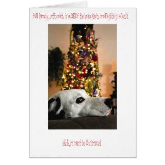 Carte de Noël dalmatienne de chien