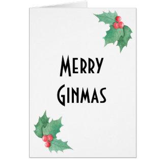 Carte de Noël d'amant de genièvre