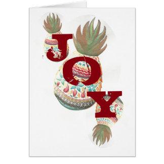 Carte de Noël d'ananas de JOIE