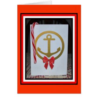 Carte de Noël d'ancre - 1
