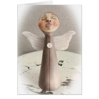 Carte de Noël d'ange de sommeil