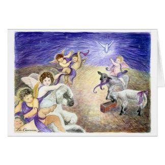 Carte de Noël d'anges
