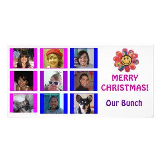 Carte de Noël d'anniversaire de grille de style de Photocarte