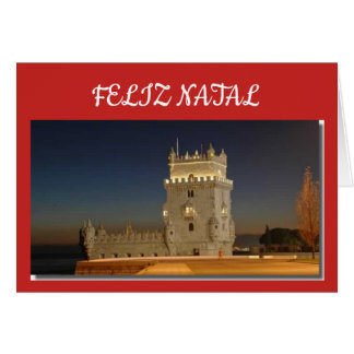 Carte de Noël dans le Portugais