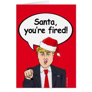 Carte de Noël d'atout - Père Noël vous êtes mis le