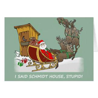 Carte de Noël de bande dessinée de Chambre de