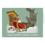 Carte de Noël de bande dessinée de Chambre de Schm
