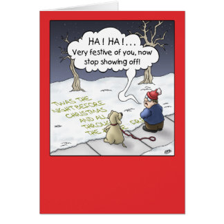 Carte de Noël de bande dessinée : Flux