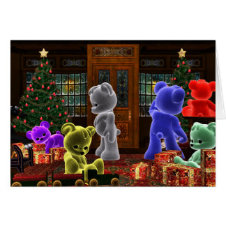Carte de Noël de Bearz de nounours