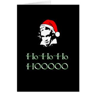 Carte de Noël de Beethoven Père Noël