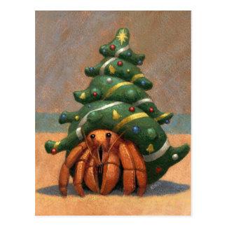 Carte de Noël de bernard l'ermite