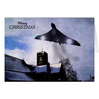 Carte de Noël de bombardier de Vulcan