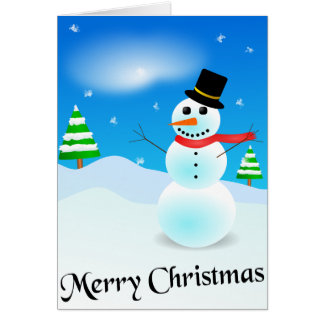 Carte de Noël de bonhomme de neige