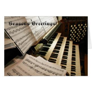 Carte de Noël de bureau de musique d'orgue