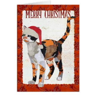 CARTE de Noël de CAT de CALICOT